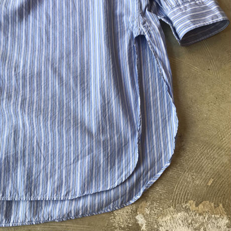 "■お問い合わせ商品■ Marvine Pontiak Shirt Makers ""Long Length Shirts"" (ブルーストライプ)"