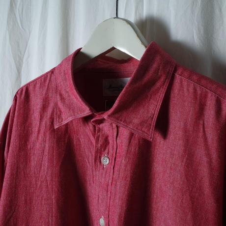 """■お問い合わせ商品■ Marvine Pontiak Shirt Makers """"Wide Spread P/O SH"""" (レッドシャンブレー)"""