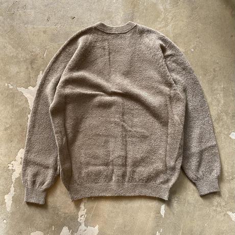 """crepuscule """"Cotton Mole Cardigan"""" / クレプスキュール """"コットンモールカーディガン"""" (グレーベージュ)"""