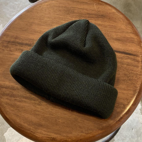 "RACAL ""Roll Knit Cap"" / ラカル""ロールニットキャップ"" (ダークグリーン)"
