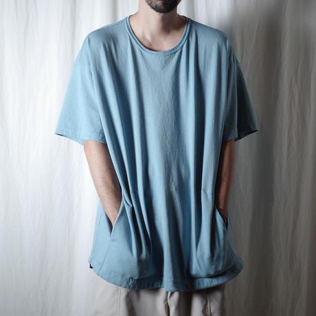 "SANDINISTA ""Drawstring Pocket Tee "" / サンディニスタ ""裾ゴム入りポケットTシャツ"" (サックスブルー)"