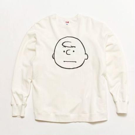 "VOTE MAKE NEW CLOTHES ""CHARLIE BROWN VTG BIG SWEAT"" (ホワイト)"