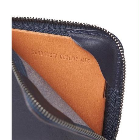 """SANDINISTA """"Superior Leather Compact Wallet"""" (ブラック)"""