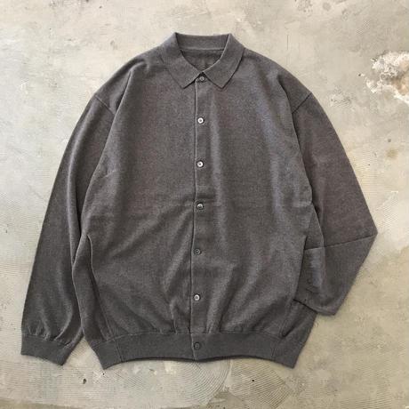 "crepuscule ""knit shirts L/S"" / クレプスキュール ""ニットシャツ"" (ブラウン)"