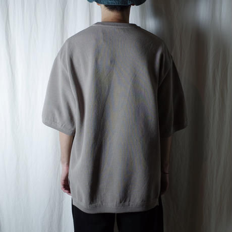 "crepuscule ""MOSS STITCH S/S"" / クレプスキュール ""鹿の子半袖ニット"" (ベージュ)"