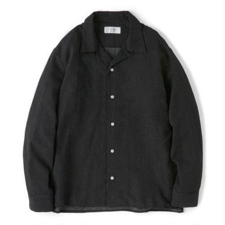"Sandinista ""Rayon Stitched Cross Shirts""/サンディニスタ""レーヨンステッチクロスシャツ""(ブラック)"