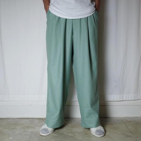 """HEALTH """"Easy Pants #4"""" / ヘルス """"ワイドイージーパンツ"""" (ライムグリーン)"""