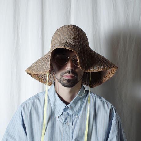 """bocodeco """"Grosgrain/Raffia Mix Hat"""" / ボコデコ""""ラフィアミックスハット"""" (ベージュ)"""