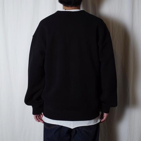 "crepuscule ""Moss stitch V/N cardigan"" / クレプスキュール ""鹿の子カーディガン"" (ブラック)"