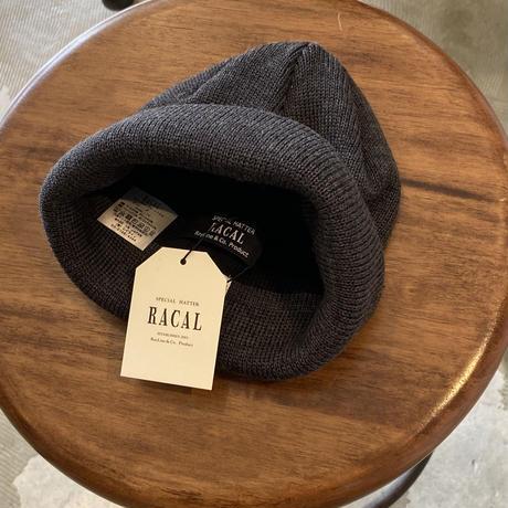 """RACAL """"Roll Knit Cap"""" / ラカル""""ロールニットキャップ"""" (チャコール )"""