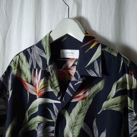"SANDINISTA ""Aloha Shirt"" / サンディニスタ ""アロハシャツ"" (ネイビー)"