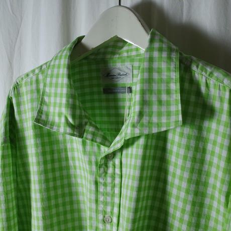 """■お問い合わせ商品■ Marvine Pontiak Shirt Makers """"Italian Collar SH"""" (シーグリーンギンガム)"""
