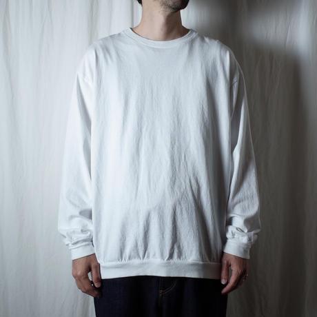 """SANDINISTA """"Rib L-S Tee"""" / サンディニスタ """"リブ長袖Tシャツ"""" (ホワイト)"""
