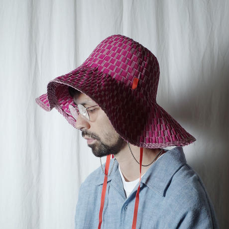 """bocodeco """"Grosgrain/Raffia Mix Hat"""" / ボコデコ""""ラフィアミックスハット"""" (ピンク)"""