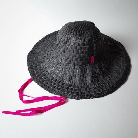 """bocodeco """"Grosgrain/Raffia Mix Hat"""" / ボコデコ""""ラフィアミックスハット"""" (ブラック)"""