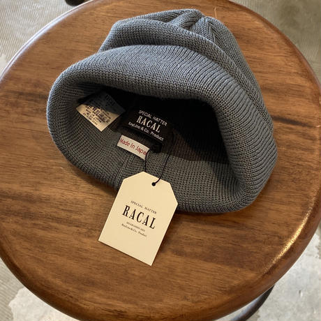 "RACAL ""Roll Knit Cap"" / ラカル""ロールニットキャップ"" (スチールブルー)"