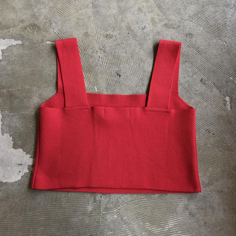 "bunt ""cropped camisole"" / バント ""クロップドキャミソール"" (レッド)"