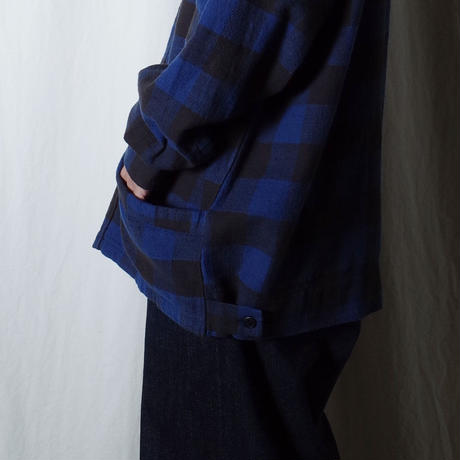 """■お問い合わせ■Marvine Pontiak Shirt Makers """"Drizzler SH"""" (ブルー×ブラック)"""