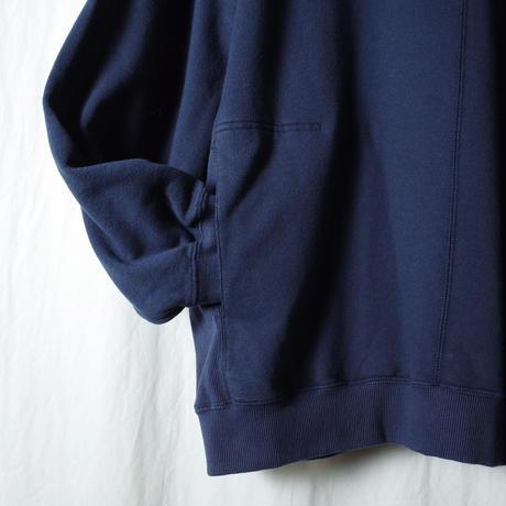 "SANDINISTA ""Hooded Pocket Sweatshirt"" / サンディニスタ ""シームポケット付きパーカー"" (ネイビー)"