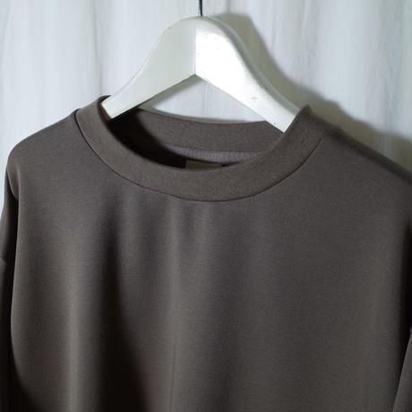 "SANDINISTA ""Double Knit Drawstring Pocket L-S Tee "" / サンディニスタ ""ダブルニット裾紐付きTシャツ"" (カーキ)"