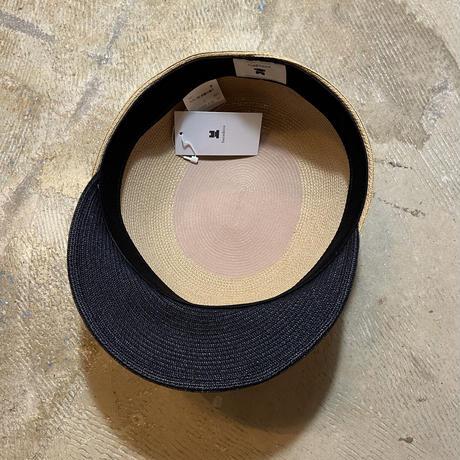 """bocodeco """"Paper Braid Short Brim Cap"""" / ボコデコ""""ペーパーブレイドショートブリムキャップ"""" (ライトベージュ)"""