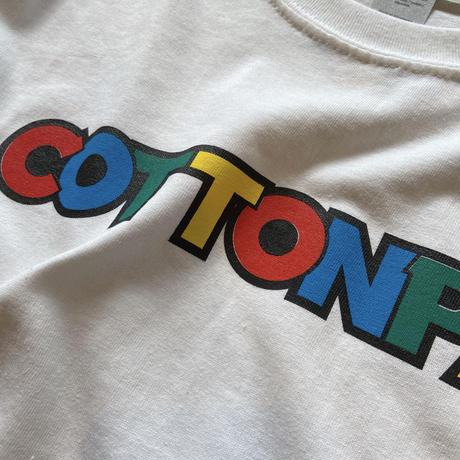 """COTTON PAN """"LOGO L/S"""" / コットンパン """"ロゴ長袖Tee"""" (ホワイト)"""