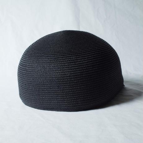 """bocodeco """"Paper Braid Short Brim Cap"""" / ボコデコ""""ペーパーブレイドショートブリムキャップ"""" (ブラック)"""