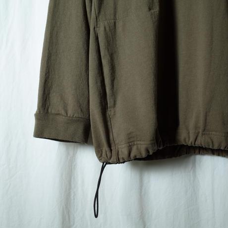 "SANDINISTA ""Pocket&Drawstling L-S Tee"" / サンディニスタ ""ポケット付き裾ゴム入り長袖Tシャツ"" (オリーブ)"
