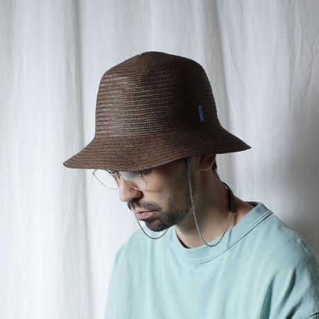"""bocodeco """"Paper Braid RV Jungle Hat"""" / ボコデコ""""ペーパーブレードリバーシブルジャングルハット"""" (ブラウン)"""