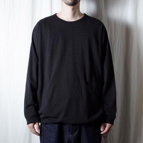 "SANDINISTA ""Pocket&Drawstling L-S Tee"" / サンディニスタ ""ポケット付き裾ゴム入り長袖Tシャツ"" (ブラック)"