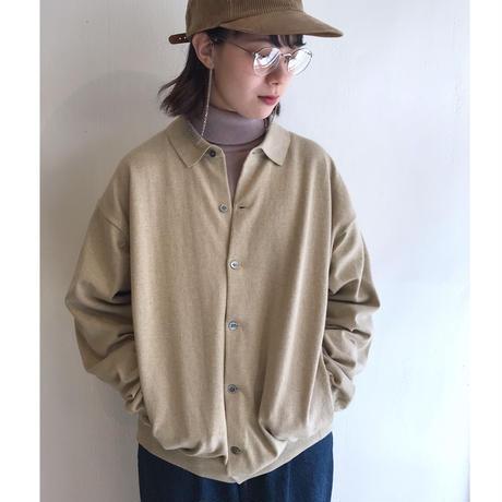 "crepuscule ""knit shirts L/S"" / クレプスキュール ""ニットシャツ"" (ベージュ)"