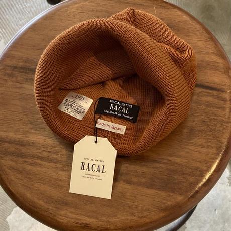 """RACAL """"Roll Knit Cap"""" / ラカル""""ロールニットキャップ"""" (オールドオレンジ)"""
