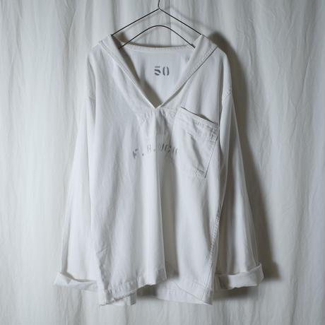 "used&vintage ""USN セーラーシャツ""(ホワイト)"