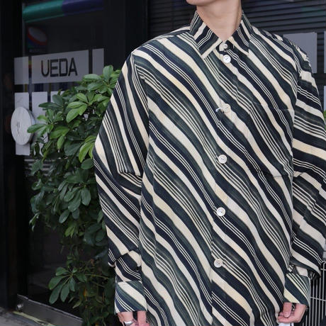 MASU VASE PATTERN SHIRT(FADED BLACK)