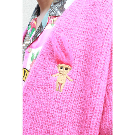 doublet  DOLL EMBROIDERY MOHAIR CARDIGAN 20AW40KN33