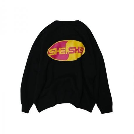 shei shei co.LTD SHEI SHEI 00's BIG SWEAT CREW (BLK) SS-19S-CT04-C