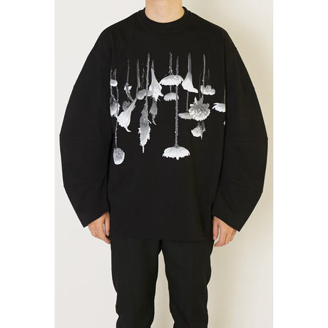 ALMOSTBLACK SWITCHING PRINT L/S TEE  /  19AW-CS02