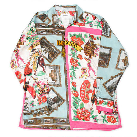 doublet  FRINGE EMBROIDERY SCARF PRINTED SHIRT 20AW21SH81