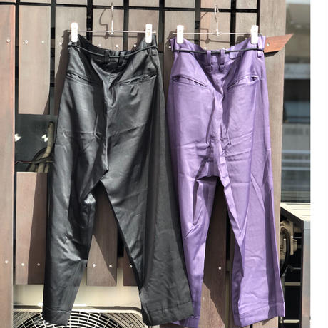 prasthana   glossy twill lezy  slacks | P-1003004