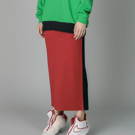 NON TOKYO / 2020A/W RIB TIGHT SKIRT (RED)