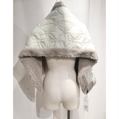 BANSAN 2way Cushion Quilting Fur Muffler BSAW20-FAC006