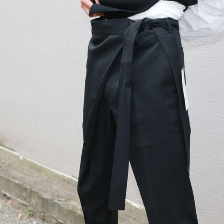 SOSHIOTSUKI   WRAP KNOT STRAIGHT TROUSERS  S20AW20PT01
