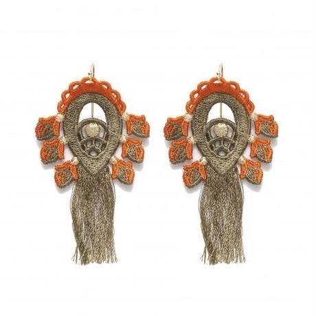 BANSAN  /  Utopia charm Pierce/Earrings-KHAKI