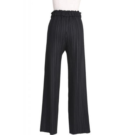 BANSAN Pleat Straight Pants - BLACK
