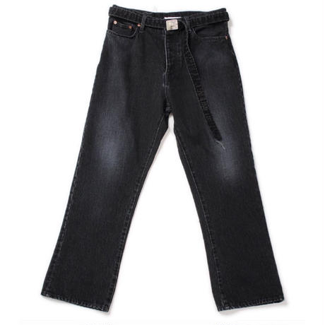 doublet CASHMERE DENIM WIDE TAPERED TROUSERS  | 19AW12PT107