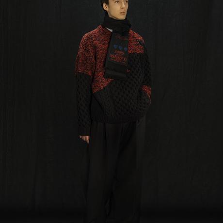 YUKI HASHIMOTO INCOMPLETED ARAN JUMPER 202-01-0502