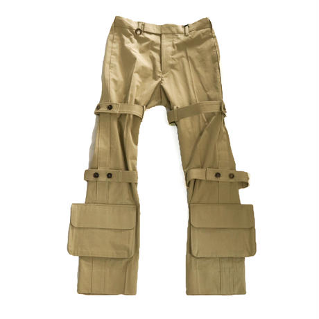 SOSHIOTSUKI  NORFOLK BONDAGE TROUSERS BEIGE