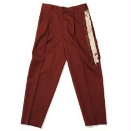 doublet /  LINED CHAOS EMBROIDEY WIDE TAPERED TROUSERS