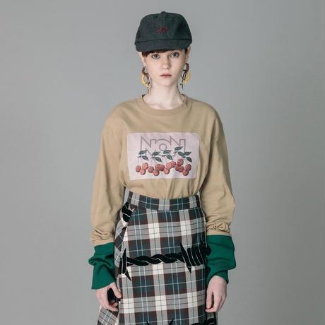 NON TOKYO / JACQUARD LONG T-SHIRTS (BEIGE)