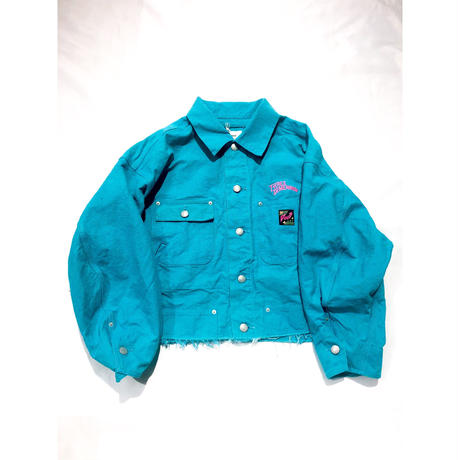 doublet /  CHAOS EMBROIDERY SILK DUCK CUT OFF JACKET